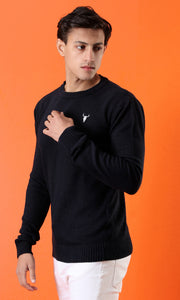 Fine Knit Navy Blue Pullover