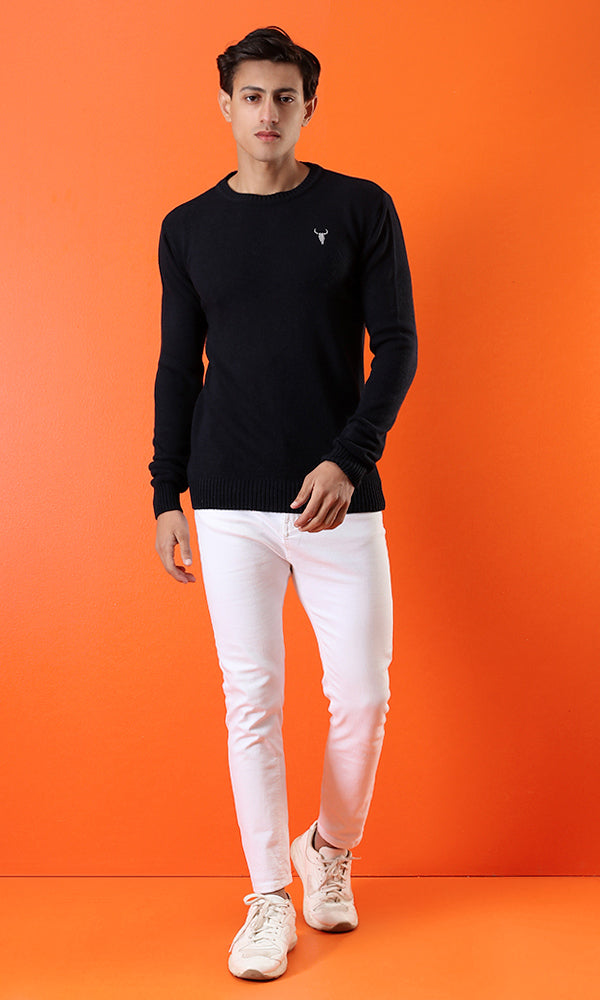 casual pullover - navy blue