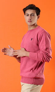 42058 Fine Knit Hot Pink Basic Pullover
