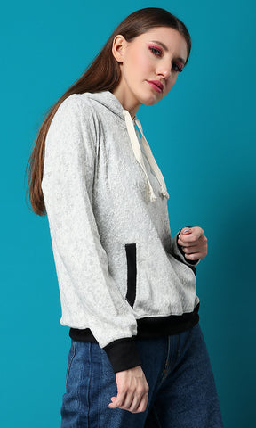 42065 Basic Slip On Sweatshirt - Off White