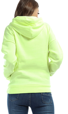 42080 Spring Break Casual Perfect Hoodie - Neon Summer Yellow