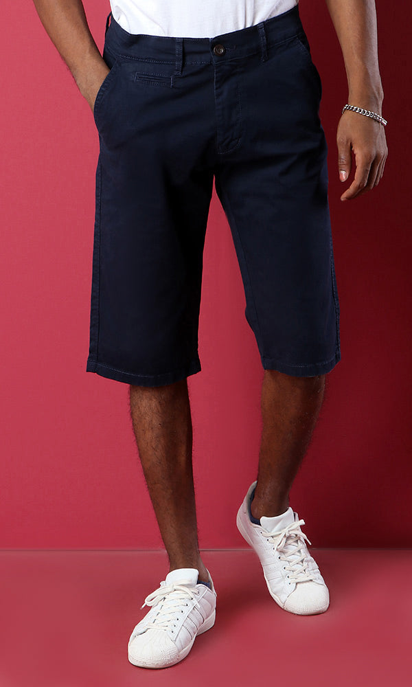 Plain Casual Short - Navy Blue
