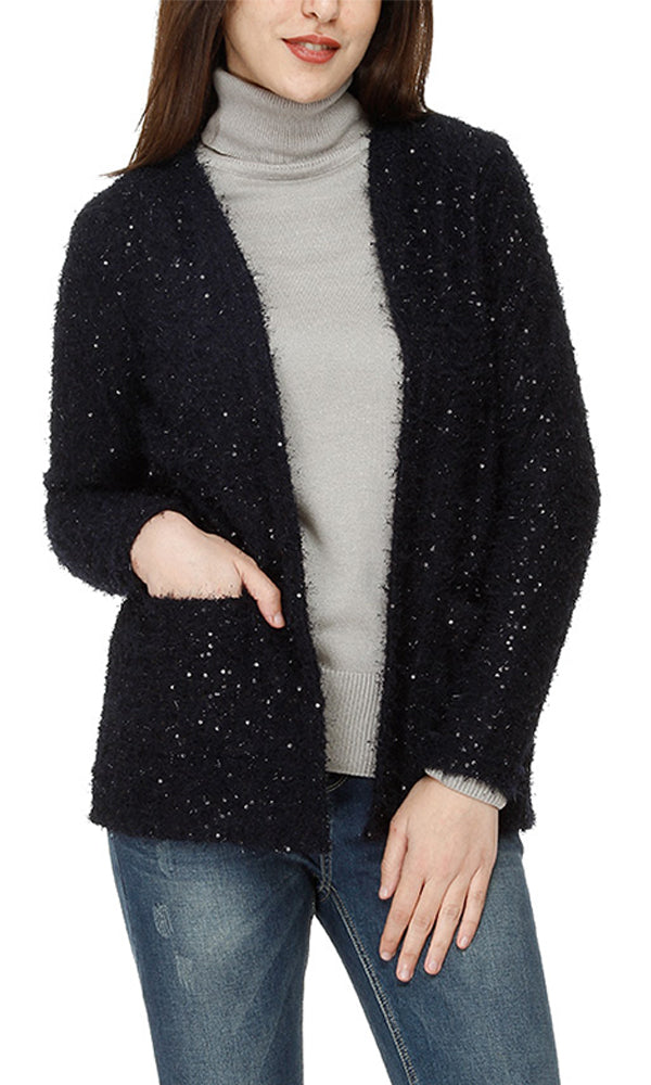 strassed cardigan - navy blue