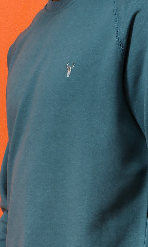 42209 Slip On Basic Teal Heavey Sweatshirt