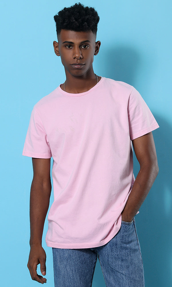 Basic PLain Casual T-shirt - Rose