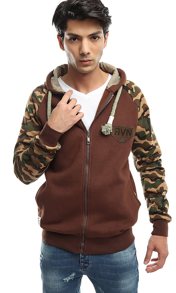 Zipped Sweatshirt - Brown