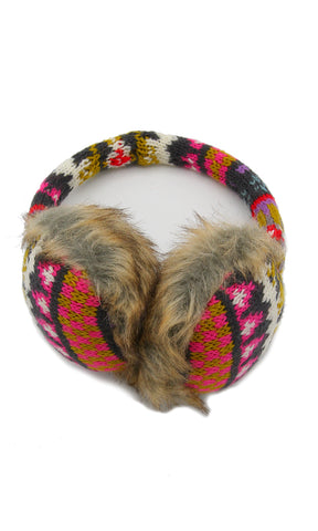 43052 Ear Fur Winter Warmer - Multicolour