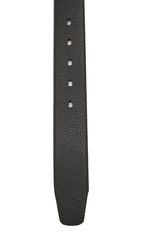 44526 Leather Casual Belt - Black