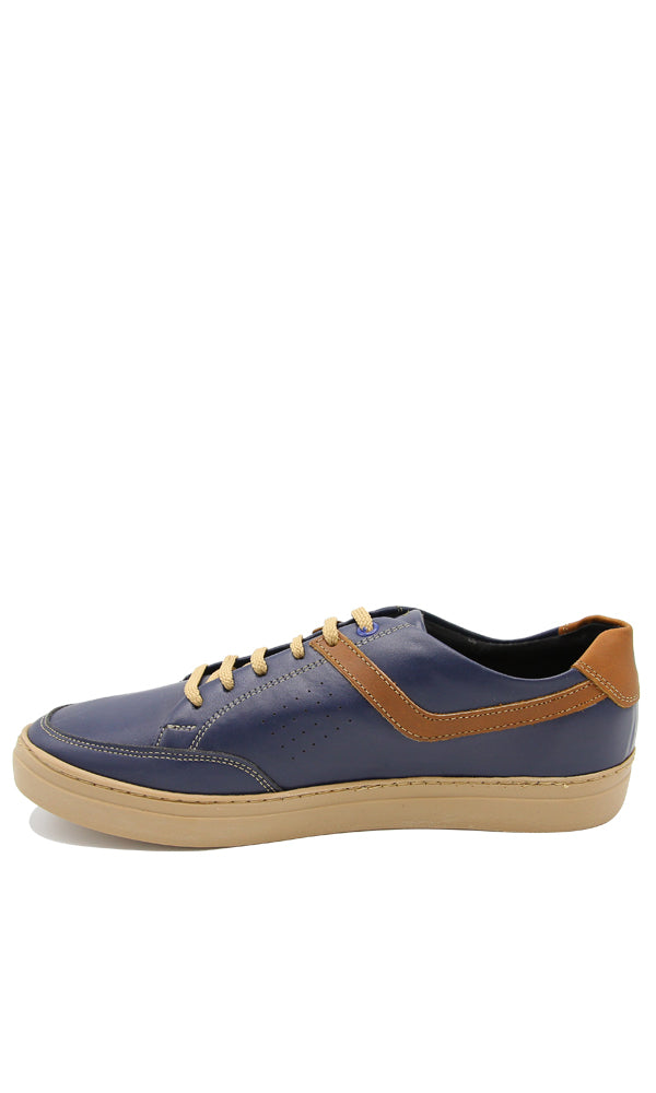44850 Perfect Leather Lace Up Shoes - Navy Blue