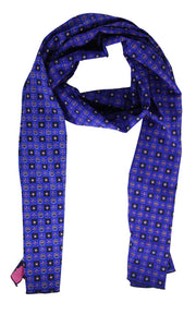 44854 Patterned SlP ON Scarf - Blue