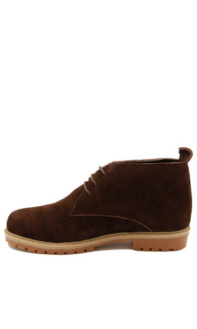 44879 Suede Casual Lace Up Shoes - Brown