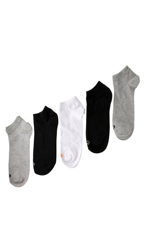 44911 Bundle Of 4 Ankle Socks - White & Black & Grey