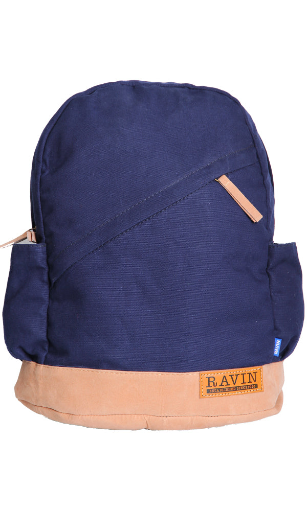 Canvas Backpack-Contrast Fabric