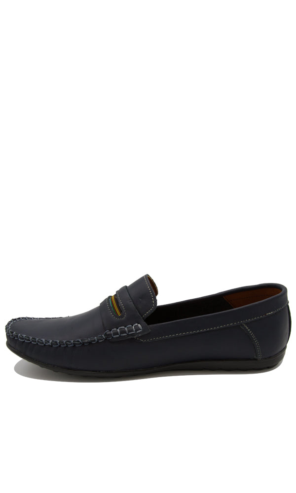 Loafer Shoes With Contrast Tape