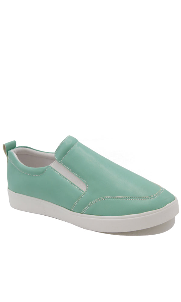 Pu Casual Slip On - Contrast Outsole