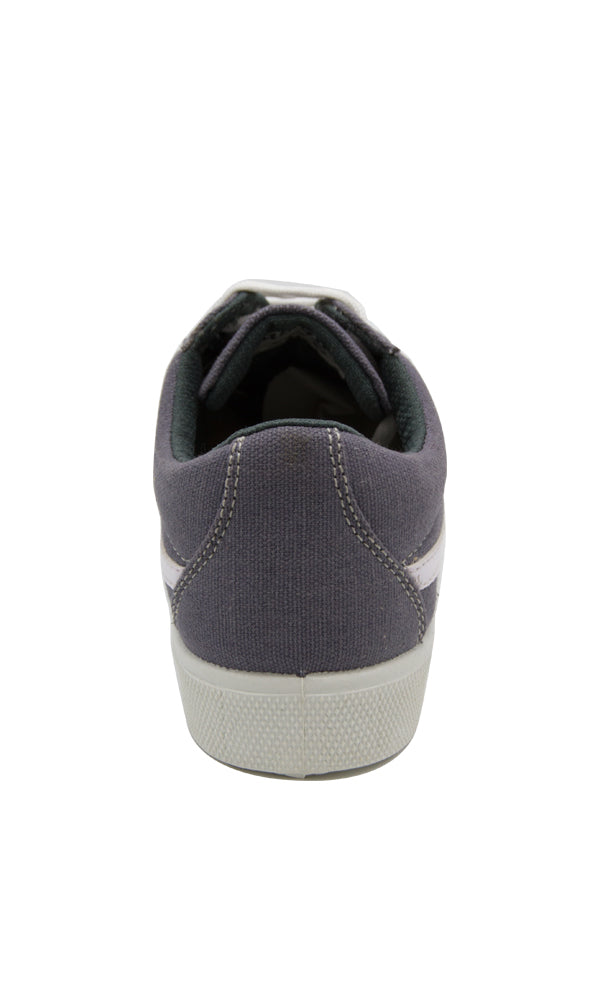 45080 Lace Up Canvas Sneakers - Grey