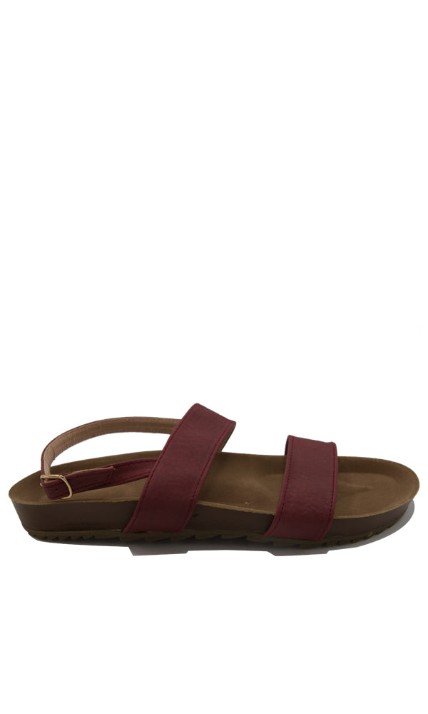Summer Open Women Sandal - Wine