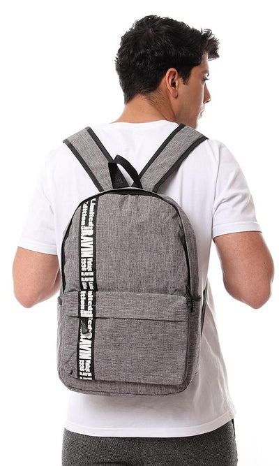 45133 Heather Grey Backpack With Front Pocket