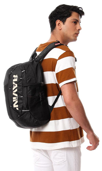 45199 One Compartment Zip Closure Backpack - Black - Ravin