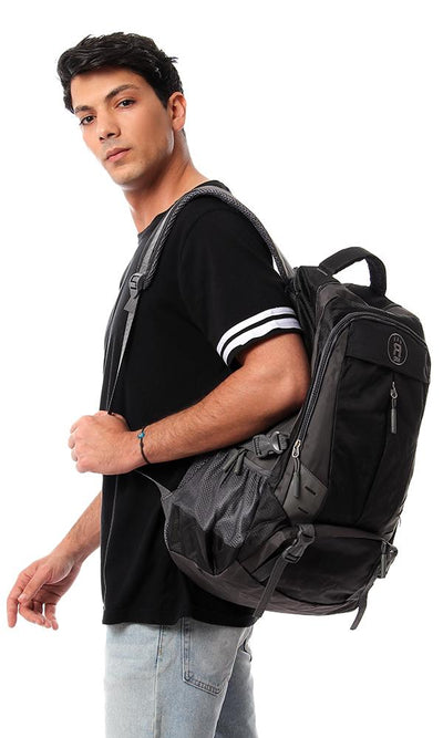45200 Grey Shades Plain Backpack - Ravin