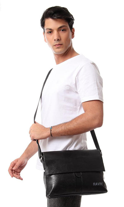 45236 Magentic Closure Crossbody Bag - Black - Ravin
