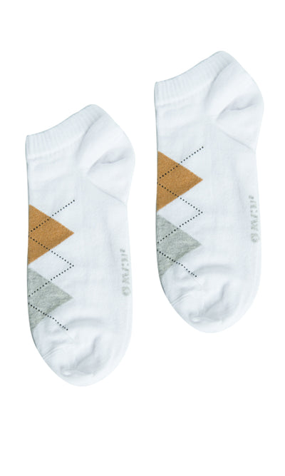 45358 Bundle Of Two Tri Tone Socks - White