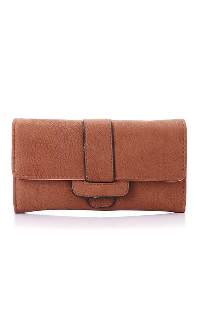 45749 Chic Simple Magnetic Havana Leather Wallet - Ravin