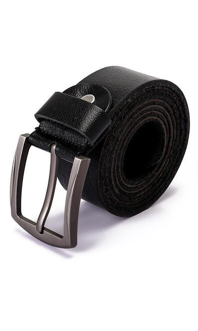 45768 Textured Leather Black Belt - Ravin
