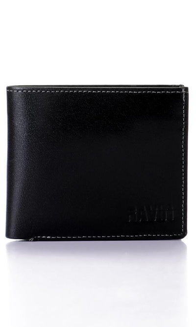 45771 Solid Bi-fold Black Wallet - Ravin