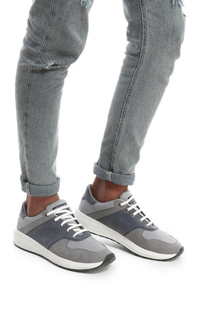 45800 Grey Shades Nubuck & Textile Sneakers