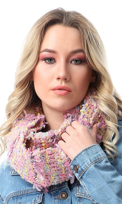 45958 Cool Multicolour Knitted  Winter Scarf - Ravin