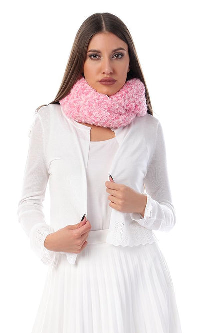 45962 Fashionable Pink Shades Infinity Scarf - Ravin