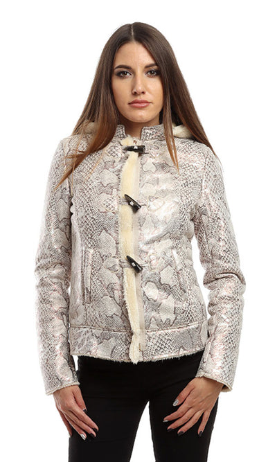 46604 Zipper Elegant Jacket - Beige