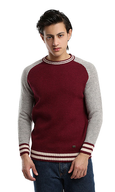 46612 Casual Winter Men Pullover - Red