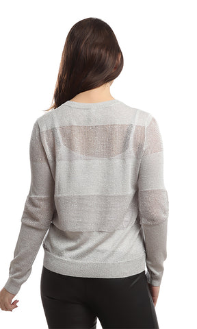 46655 Casual Round Pullover - Silver