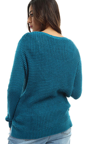 46674 Long Sleeves Pullover - Medium Blue