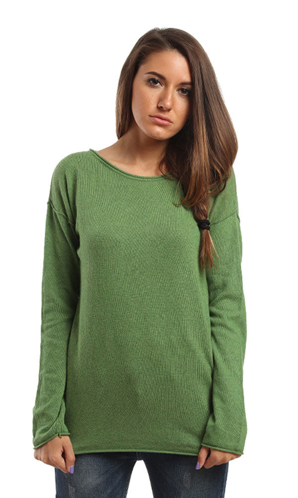Long Sleeves Solid Heavy Pullover - Light Green