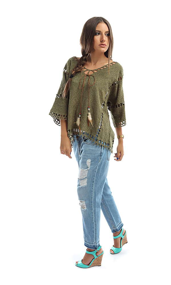 Solid Loose Top - Olive