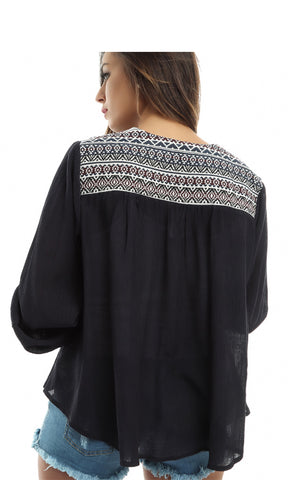 47025 Long Sleeves Cardigan - Navy