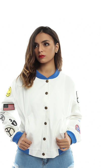 47050 Women Casual Jacket - Off White