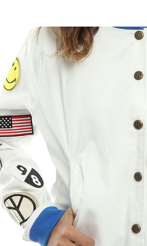 Women Casual Jacket - Off White