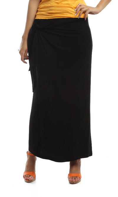 47065 Elastic Waist Skirt - Black
