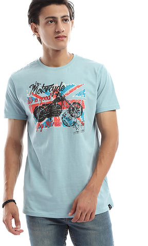 47124 Enjoy The Ride Tee Powder Blue