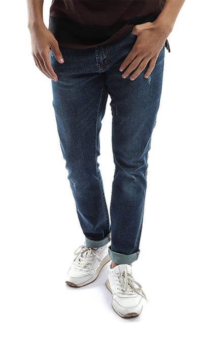 47201 Men Jeans Straight Jeans Pants - Blue