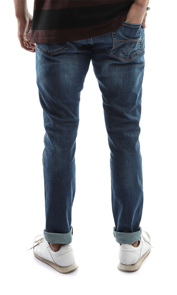Men Jeans Straight Jeans Pants - Blue