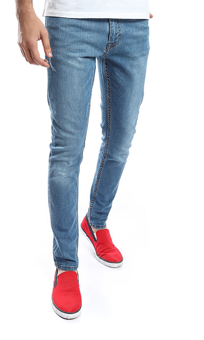 47202 Solid Skinny Fit Jeans - Corn Flower Blue
