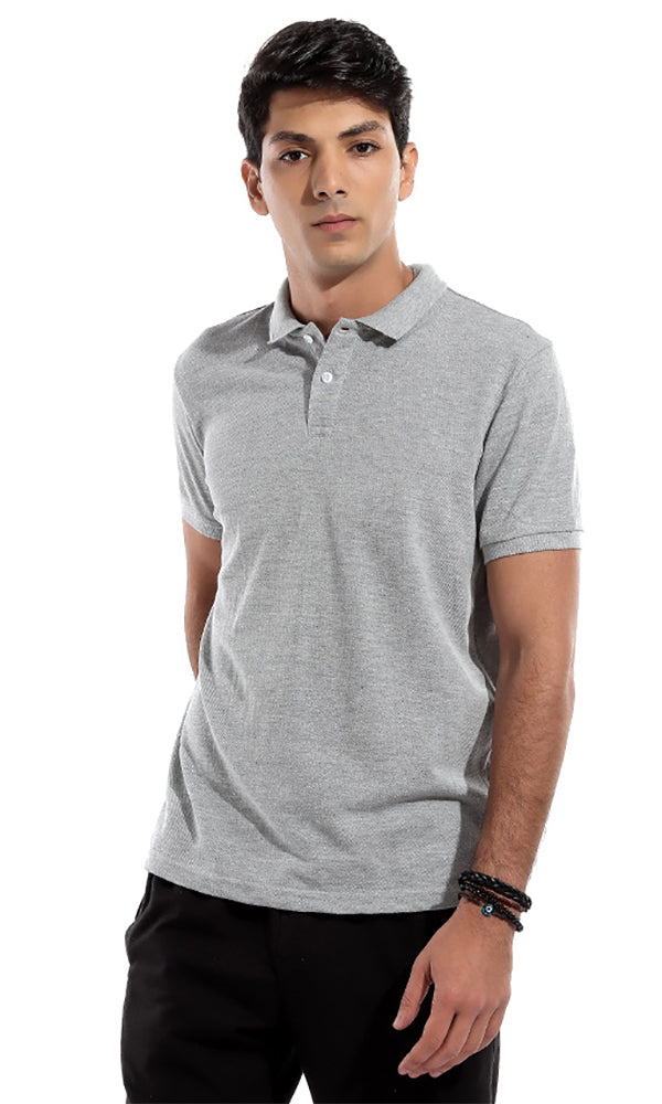 Trendy Short Sleeves T-Shirt - Grey