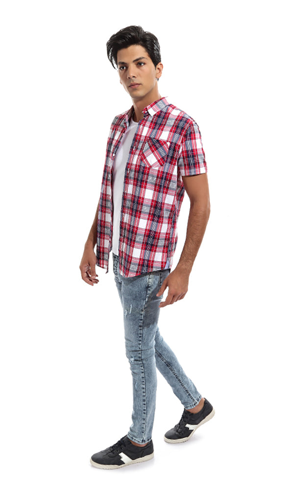 Checkered Short Sleeves Shirt - Multicolour