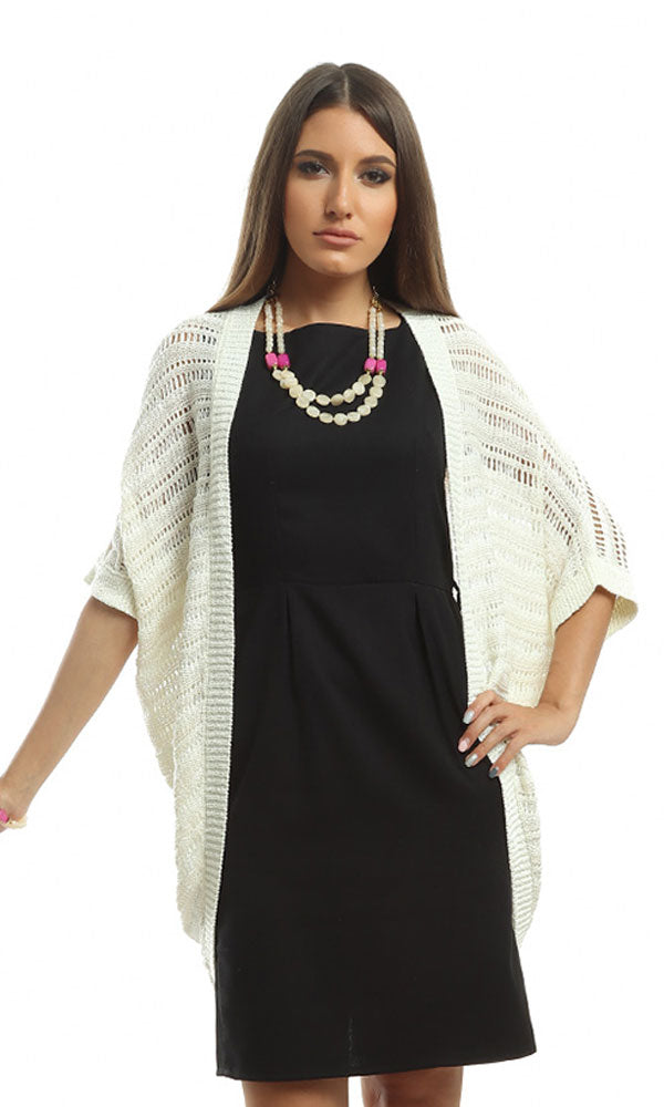 Medi Sleeves Cardigan - Off White