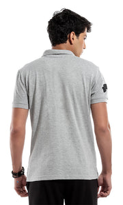 47420 Printed Polo T-Shirt - Grey